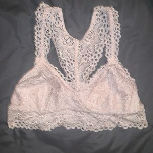 Light pink bralette from aerie
